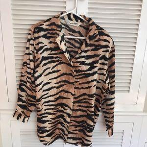 Diane Von Furstenberg Blouse Size Medium